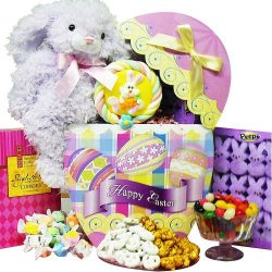 Easter Egg-stravaganza Chocolate and Candy Gift Box with Plush Bunny Rabbit