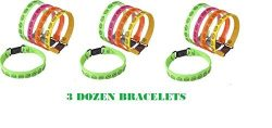 (36) Neon SMILEY FACE Buckle Bracelets ~ Birthday Party Favors ~ Summer Camps ~ Teacher Year End ...