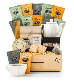 GiftTree Full Leaf Tea Tasting Gift – Gourmet Tea Gift Basket with Tea Assortment, Cookies ...