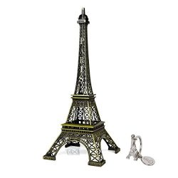 SiCoHome The Eiffel Tower 12inch Bronze Tall Eiffel Tower Paris France Vintage Replica for Cake  ...