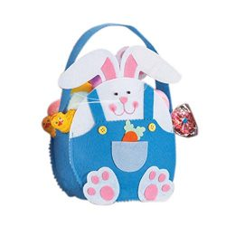 Easter Bunny Bag, Forthery Rabbit Ear Hot Sale Handle Easter Tote Bag Gift Cookie Bread Cake Can ...