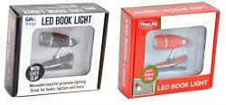 Set of 2 LED Red Black Clip On Night Book Reading Lights for Books Best Top Easter Basket Stuffe ...