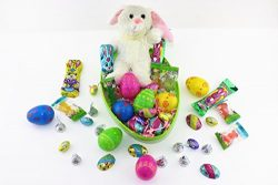 10″ Giant Easter Jumbo Egg Filled Bunny Plush With Easter Bunny, 4 Eggs with Hershey&#8217 ...