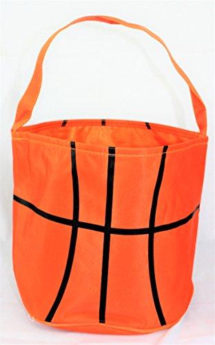 Sporty Basketball Easter Halloween Basket Bucket snack bags children kids practice