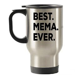 Mema Gifts – Best Mema Ever Travel Insulated Tumblers Mug – Novelty GIft Idea – ...