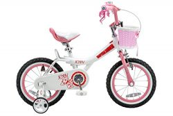 Royalbaby Jenny Princess Pink Girl's Bike with Training Wheels and Basket, Perfect Gift fo ...