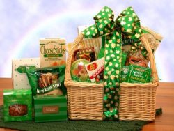 Saint Patrick's Day Gift Basket St Patties Snacks