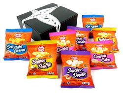 JOLLY TIME Pop Corn 4-Flavor Variety: Two 1 oz Bags Each of Confetti Cake, Snicker Doodle, Belgi ...