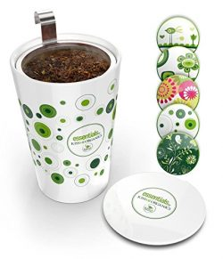 Steep & Strain Ceramic Tea Mug – Insulated Cup with Tea Infuser – Gift Travel Co ...