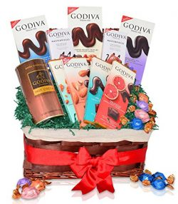 Godiva Occasional Chocolate and Hot Cocoa Variety Gift Basket – Mother's Day Gifts & ...