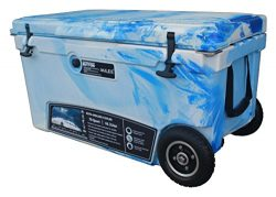 MILEE–Wheeled Cooler 70QT (Marine CAMO) Included Divider, Basket and Cup holder free.