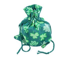 Dog Gift Treat Bag – Made in USA – Reusable Festive St Patrick's Day Cloth Pouch