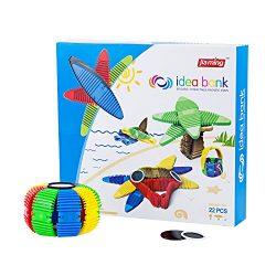 OleFun 3D Assembly puzzle ,Magnetic Blocks Toys, Connectable Building Tiles Set,Flexible Magneti ...