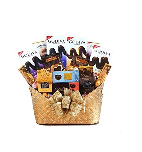 Majestic Godiva Chocolate Gift Basket by California Delicious