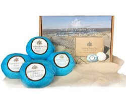 Soothing Waters Spa Petoskey Stone Bath Bombs, Organic & Natural USA Made Lush Bath Bomb Gif ...
