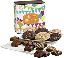 Fairytale Brownies Birthday Cookie & Magic Morsel Combo Gourmet Food Gift Basket Chocolate B ...