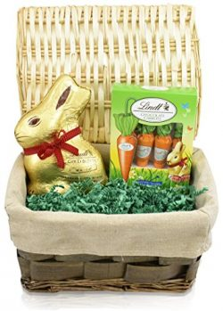 Lindt Easter Bunny and Carrots Gift Basket – Lindt Easter Bunny 7oz – Lindt Easter C ...