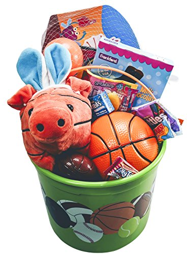 Basketball easter bucket prefilled with boys sports activity basketball easter bucket prefilled with boys sports activity candy and toy classic easter gift negle Image collections