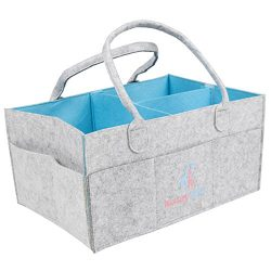 Luxury Little Baby Diaper Caddy :: Extra Large Storage for Diapers Wipes, Toys & More :: Nur ...
