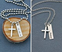 Men's Cross Necklace – DII ABC – Boys Confirmation Gift – Baptism Gift – Easter Gift Baske ...