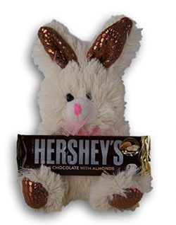 Chocolate Scented Ivory Easter Bunny with an Almond Hershey's Bar