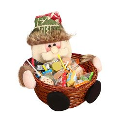 Clearance! Paymenow Cute Christmas Candy Storage Basket Decoration Santa Claus Storage Basket Gi ...