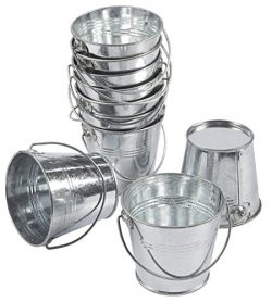 10-Pack Small Metal Bucket – Bucket Planter with, Mini Metal Pail, Ideal for Party Favors, ...
