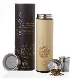 The NEW Love Bamboo Tumbler 18oz for Loose Leaf Tea, Coffee, or Fruit Water with Stainless Steel ...