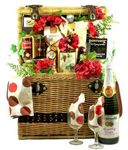 Picnic for Two Gift Basket | Anniversary or Valentines Day Gift for Men or Women