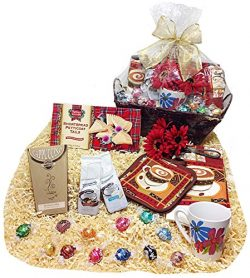Flavored Coffees & Cappuccino Mother Day Gift Basket With Lindt Lindor Gourmet Choclate Truf ...