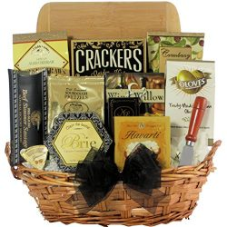 GreatArrivals Gift Baskets Modern Tastings: Cheese & Snack Gift Basket, 4 Pound