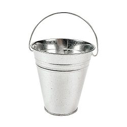 Kidsco 12-Pack Large Galvanized Metal Buckets With Handle 5″ X 4 1/2 – Unique Goody  ...