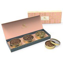 VAHDAM Assorted Tea Gift Box Set – Detox Green Tea Leaves, Earl Grey Masala Chai Tea, Rega ...