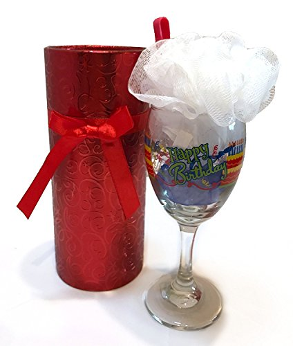 Wine Spa Set Happy Birthday Cake And Candy Gifts Gift Baskets Glass