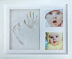 My Mini Moe Baby Handprint Kit & Footprint Photo Frame. Shower Registry Gifts For Newborn Gi ...