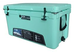MILEE-Heavy Duty Cooler-75QT ICE CHEST-GREEN (Hanging Wire Basket ,Cooler Divider and Cup Holde ...