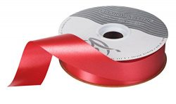 Red Satin Poly Holiday Gift Wrapping Ribbon 1.44″ (1-7/16″) X 100 Yards