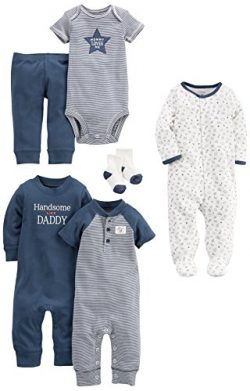 Carter's Baby 6 Basics Set + 3-Piece Bonus Accessories, Navy, 3 Months