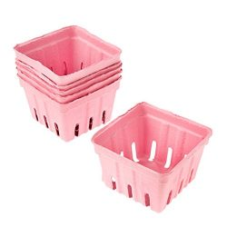 12 Light Pink Paper Berry Baskets baby Shower Wedding 3.5 x 3.5 inches