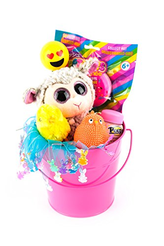 Mardel Spring Gift Basket for Children – 8 Piece Set – Pink Pail – 6 years and ...