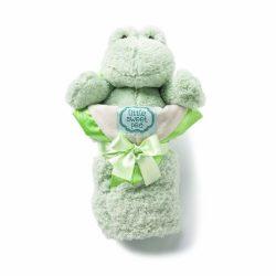kathy ireland Plush and Blanket Set, Sage Frog