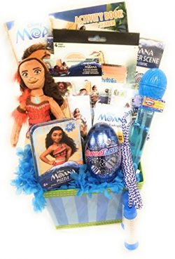 DISNEY MOANA EASTER BASKET or GIFT BASKET for girls, 16 pcs (Age 5+)
