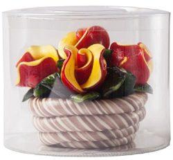 Hard Candy Rose Basket – Hand Made