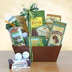 Luck on the Green Gourmet St. Patrick's Day Gift Basket for Golfers
