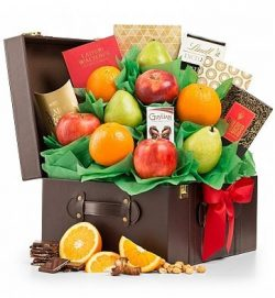 GiftTree Fresh Fruit and Gourmet Chocolate Gift Basket – Top Quality Fruit with Premium Sn ...