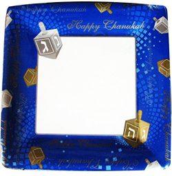 Chanukah Paper Plates, Disposable Plates, Decorated with Hanukkah Symbols – 10″ R ...