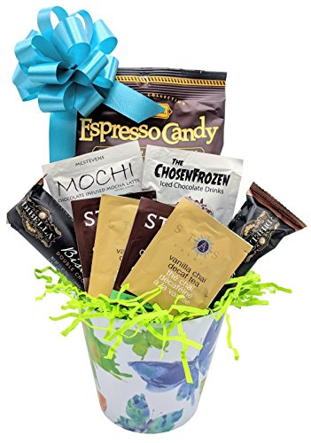 Mothers Day Gift Basket For Chocolate Coffee Tea Lovers Includes 5 Waterco