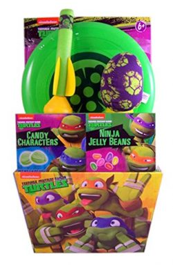 Teenage Mutant Ninja Turtle Easter Gift Basket with Jelly Beans, Candy Characters, and Toys, 1.6 oz