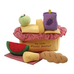 GUND Baby My Little Picnic Basket Playset Stuffed Plush, 7 pieces