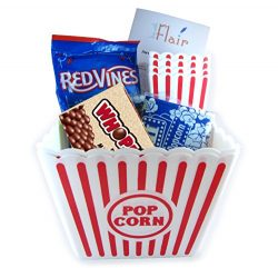 2 Popcorn Containers and 4 Small Popcorn Baskets for Kids Reusable With 3 Packets of Act 2 Micro ...